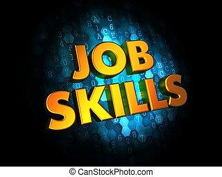 lavoro, abilità, concetto, su, digitale, fondo.
