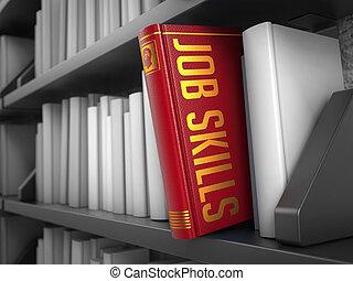 lavoro, abilità, -, titolo, di, rosso, book.