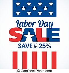 lavoro, bandiera, vendita, giorno