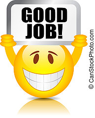 lavoro, buono, smiley