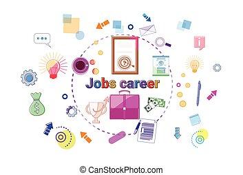 lavoro, carriera, crescita, concetto, professionale, successo, bandiera