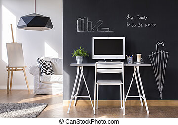 lavoro casa, zona, minimalista