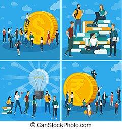 lavoro, concetto, squadra affari