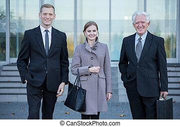 lavoro, corporazione, secondo, squadra affari
