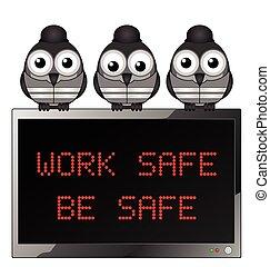 lavoro, essere, sicuro