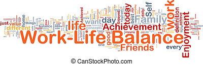 lavoro, ?life, equilibrio, fondo, concetto