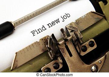 lavoro nuovo, trovare