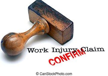 lavoro, reclamo, lesione