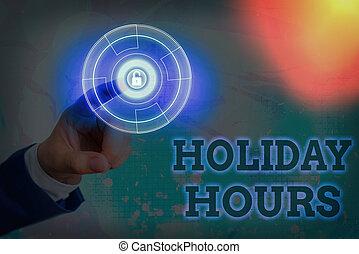 lavoro, scrittura, significato, scrittura, schedules., vacanza, hours., testo, straordinario, flessibile, personale, sotto, concetto