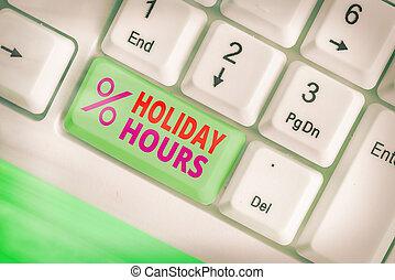 lavoro, significato, scrittura, schedules., vacanza, hours., testo, straordinario, flessibile, personale, sotto, concetto