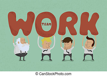 lavoro squadra, affari