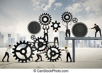 lavoro squadra, businesspeople