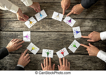 lavoro squadra, concetto, brainstorming