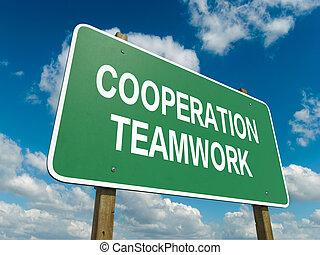 lavoro squadra, cooperazione