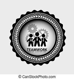 lavoro squadra, disegno