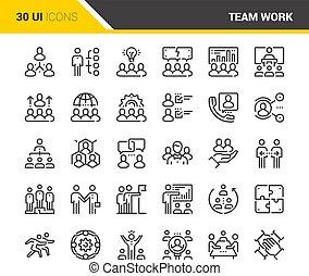 lavoro squadra, icone