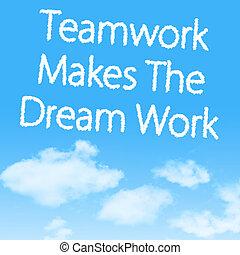 lavoro squadra, marche, il, sogno, lavoro