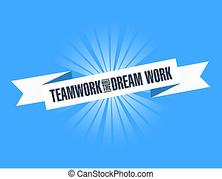 lavoro squadra, marche, il, sogno, lavoro, luminoso, nastro
