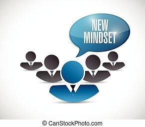 lavoro squadra, segno, mindset, nuovo