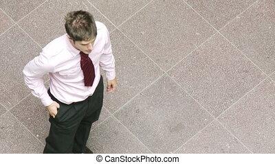 lavoro, tremante, uomini affari, mani
