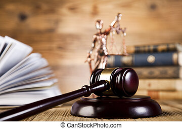 Law and justice concept, legal code and gavel