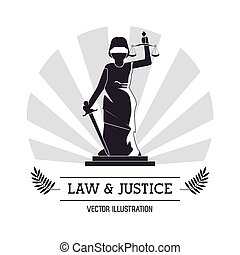 Law and Justice icon design - Law concept with justice icons...