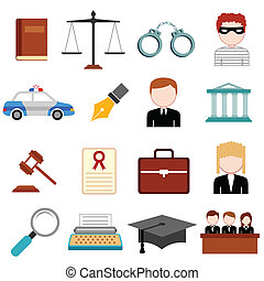 Law and Justice icon - illustration of law and justice icon...