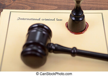 Notary seal, Judge Gavel , International criminal law...