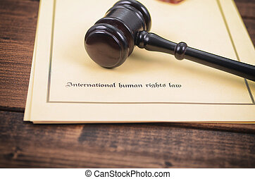 Notary seal, Judge Gavel , International human rights law...