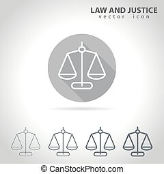 Law and justice outline icon