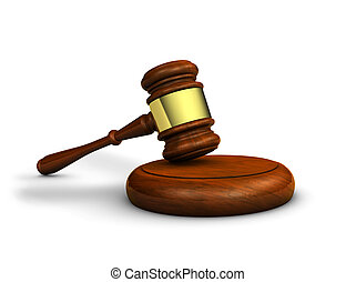 Law And Justice Symbol - Law, justice and judge concept with...
