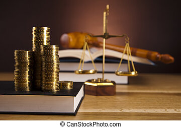 Law and money concept