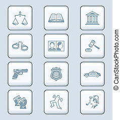 Law and order icons | TECH series