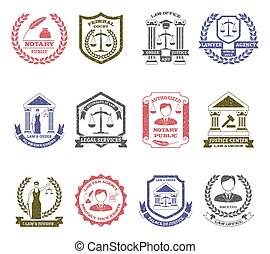 Law And Order Logo Stamps Set - Law and order logo stamps...