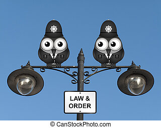 Law and Order UK - Comical United Kingdom bird policemen...