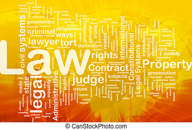 Background concept wordcloud illustration of law international