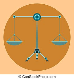Law Balance Symbol Justice Scales, Zodiac signs Libra