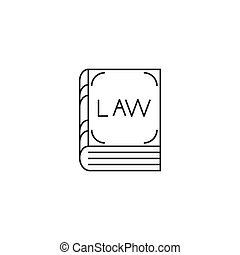 Law book line icon