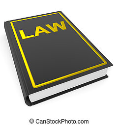 Law book. Computer generated image.