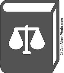 Law Book - Law, books, library icon vector image.Can also be...