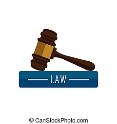 Law book with a gavel icon
