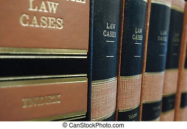 Law books (Law Cases) on a shelf