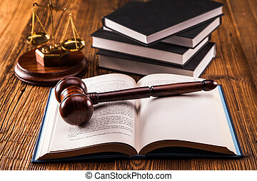 Law code and gavel