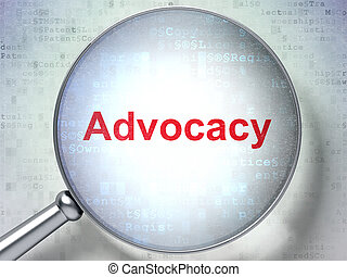Law concept: Advocacy with optical glass - Law concept:...