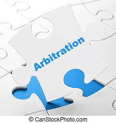 Law concept: Arbitration on puzzle background