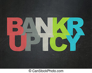 Law concept: Bankruptcy on School board background