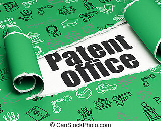 Law concept: black text Patent Office under the piece of...
