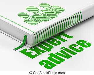 Law concept: book Business People, Expert Advice on white background