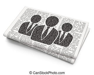 Law concept: Business People on Newspaper background