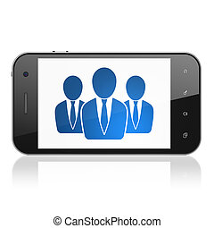 Law concept: Business People on smartphone